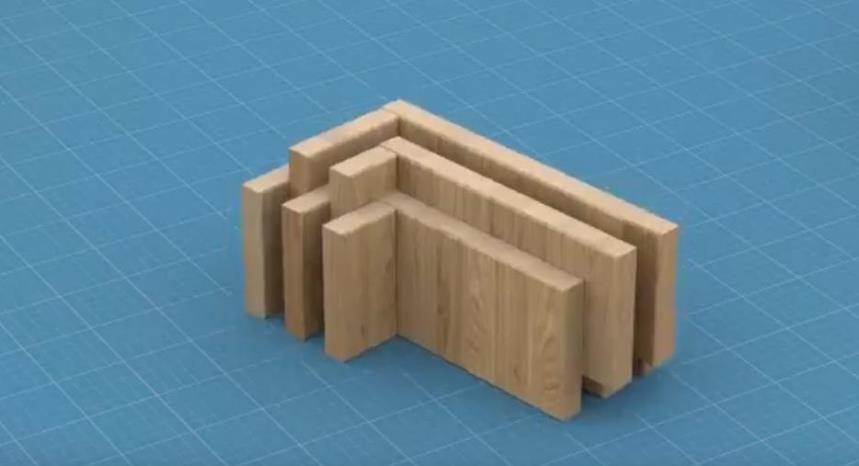 Деревянный строительный блок