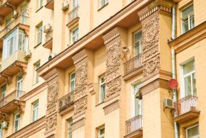 Сталинка, фасад