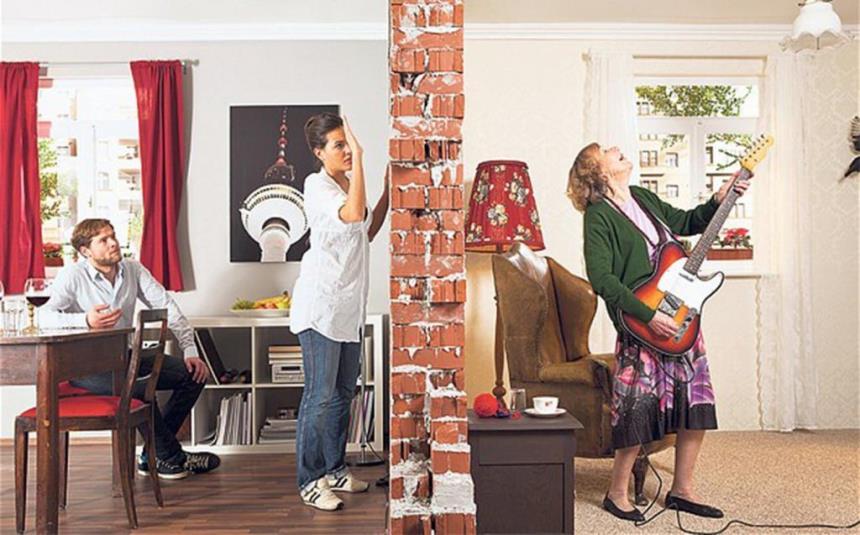 Шум в квартире, музыка