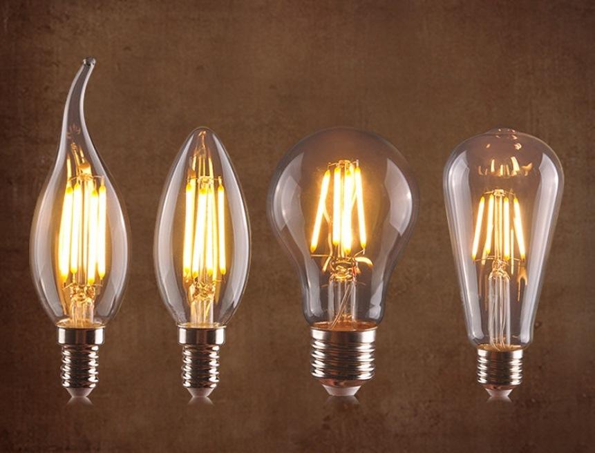 Филаментная лампа, разновидности