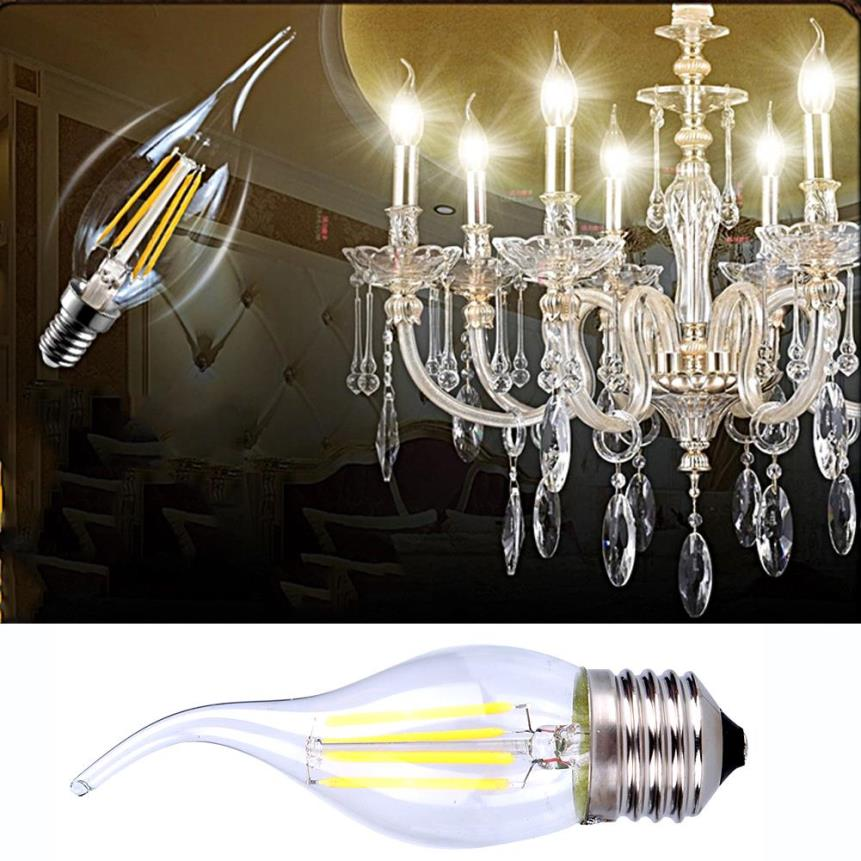Хрустальная люстра с филаментными лампами