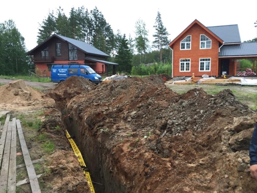 Укладка газопровода к дому