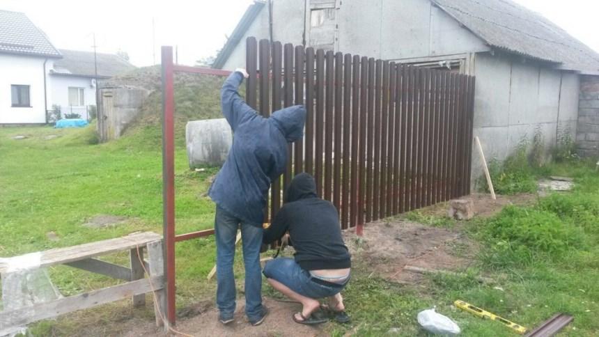 Забор, установка