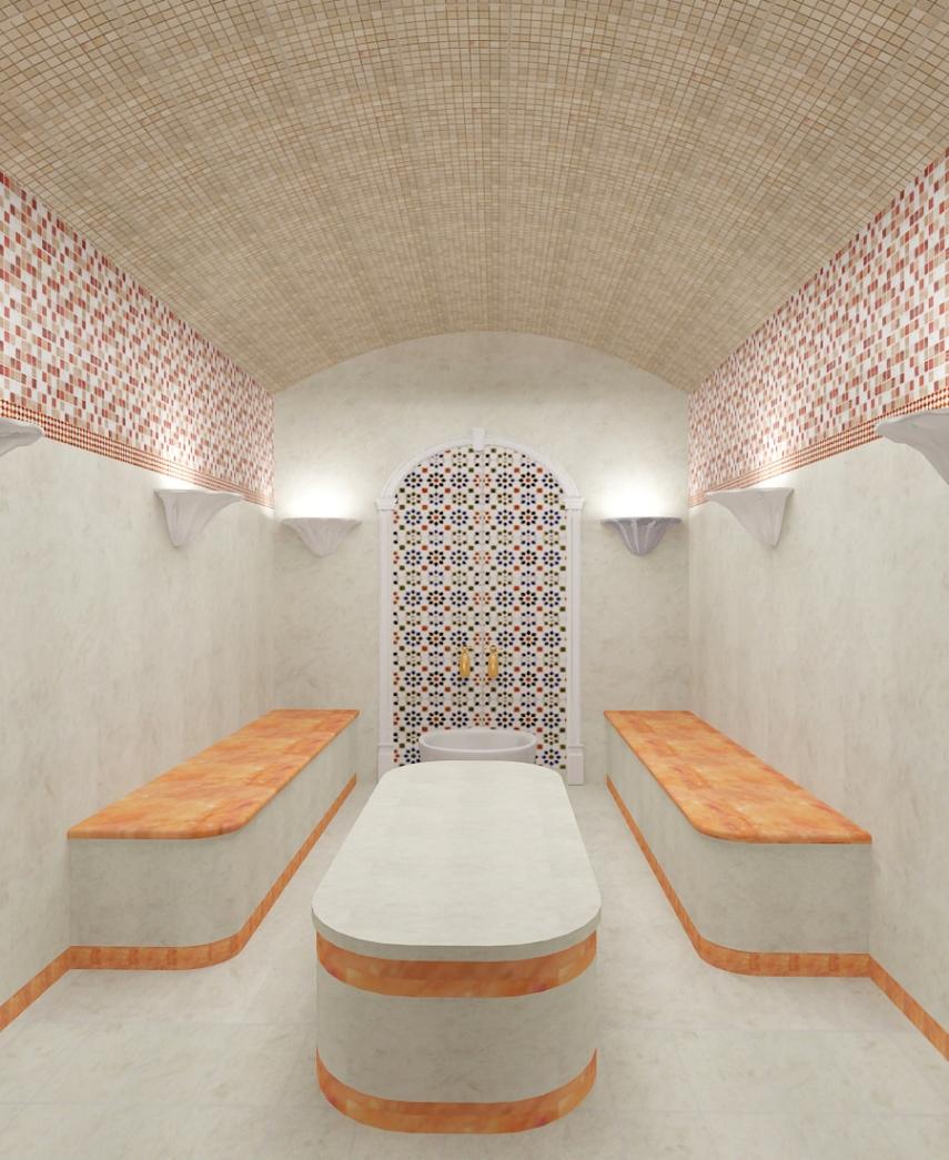 Потолок в хамаме